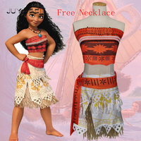 Movie Princess Moana Costume For Kids Moana Princess Dress Cosplay Costume Children Adul Halloween Costume For
