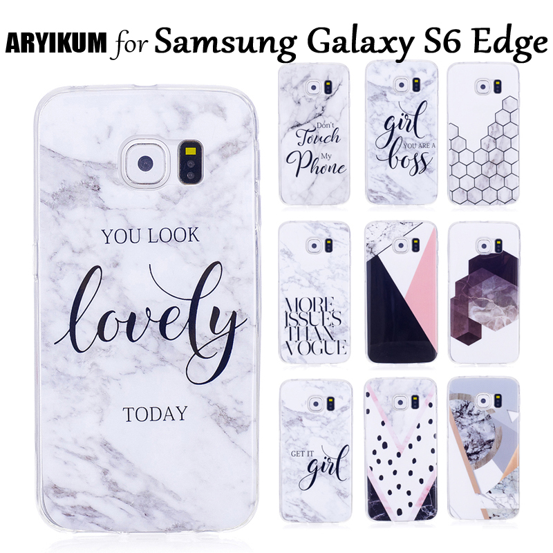 ARYIKUM Cases For Samsung Galaxy S6 S 6 Edge G925 Case Silicone CellPhone Accessories Cover For Samsung S 6 Edge Sansung S6 Edge