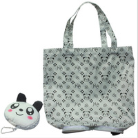 1PC Cartoon Anime Folding Shopping Tote Reusable Eco Bag Panda Frog Pig Bear waterproof shopping bag Grocery Handbags Shopping Bags