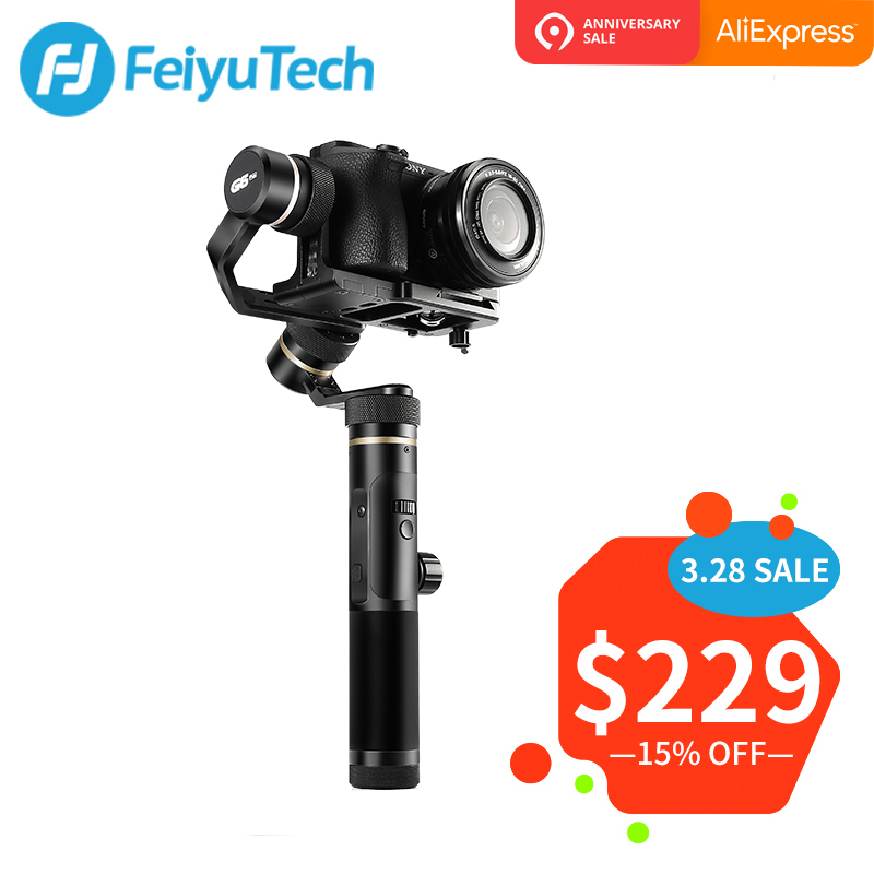 FeiyuTech G6 Plus 3-Axes De Poche stabilisateur de cardan pour appareil photo compact caméra de poche GoPro Smartphone Charge Utile 800g Feiyu G6P
