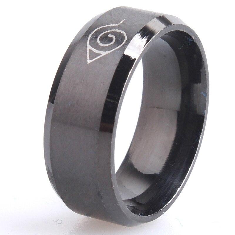 Navio da gota ok anti alergia 2017 nova largura 8mm homens naruto anéis de aço inoxidável clássico feminino anel jóias quente