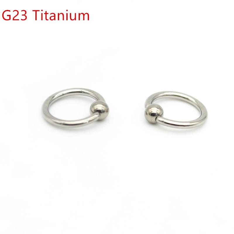 Grade 23 Titanium Bcr Captive Bead Ring16g 8mm 10mm 12mm Ball