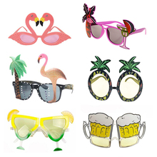 Hawaii Novelty Pink Flamingo Sunglasses Tropical Goggles Pineapple Hen Party Supplies Glasses Carnival Beach Party Decoration