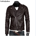 Mens Leather Jackets Motorcycle High Quality Punk Turn down Collar Biker casaco de couro masculine jaqueta de couro dos