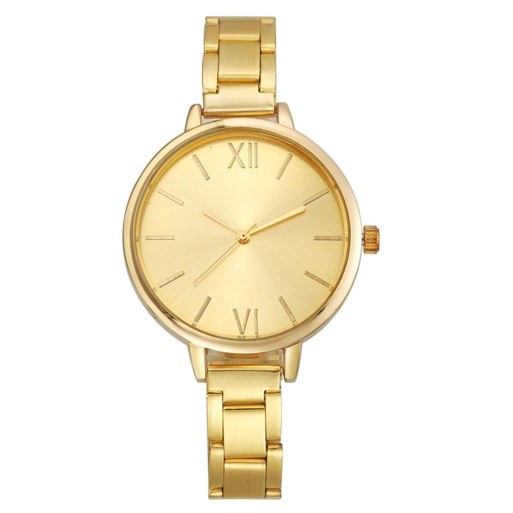 Moda mujer pequeña banda de acero reloj de pulsera de cuarzo - Relojes para mujeres