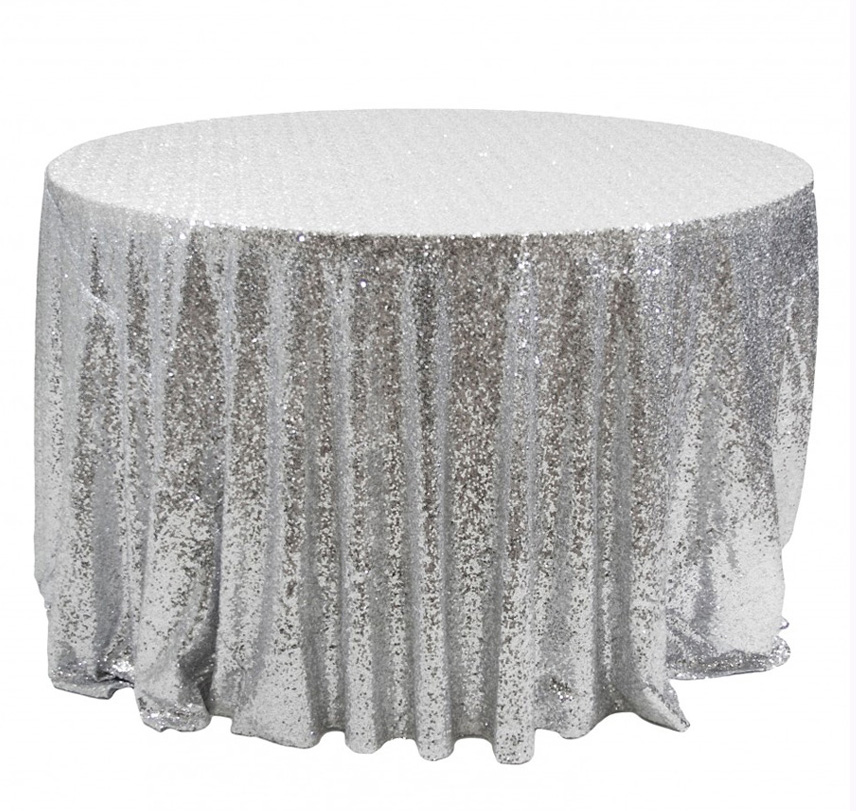 Popular Silver Sequin Tablecloths-Buy Cheap Silver Sequin ...