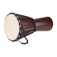 Professional 8 African Djembe Hand Bongo Drum Percussion Music Instrument Select Hardwood Body Goatskin Head