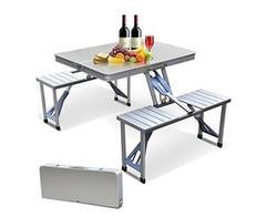 Acampamento portátil ao ar livre piquenique integrado conjuntos de cadeiras de mesa dobrável