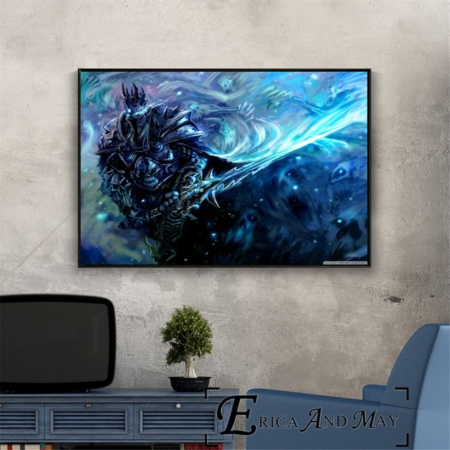 Lich King WOW Game Artwork Vintage Posters and Prints Wall art Decorative Picture Canvas Painting For Living Room Home Decor  4