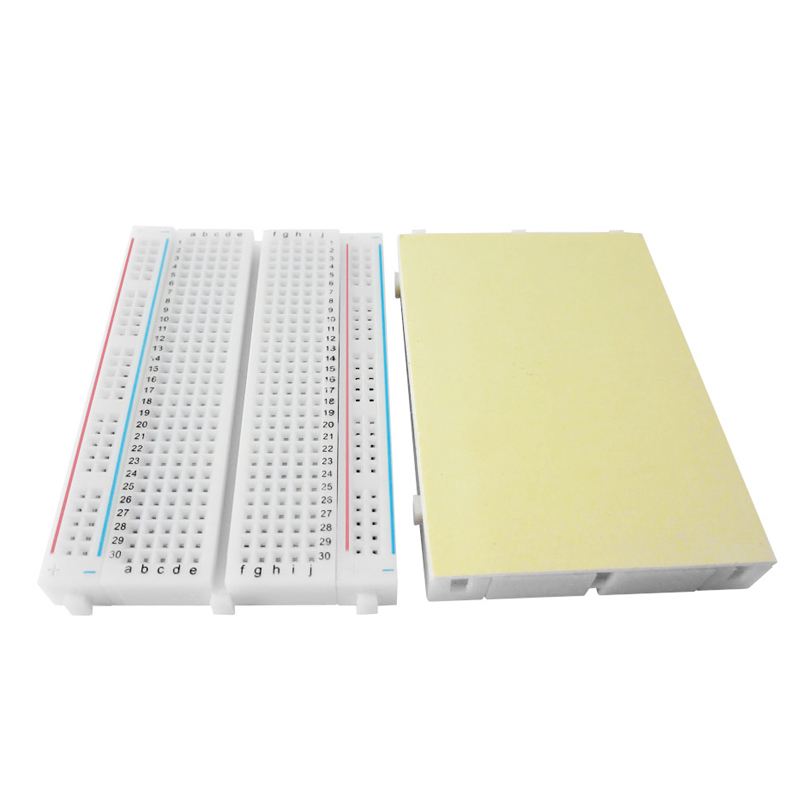 1pcs Quality mini bread board / breadboard 8.5CM x 5.5CM 400 holes hot sale diy mw 204 raspberry pi breadboard mini solderless bread board test developing board high quality