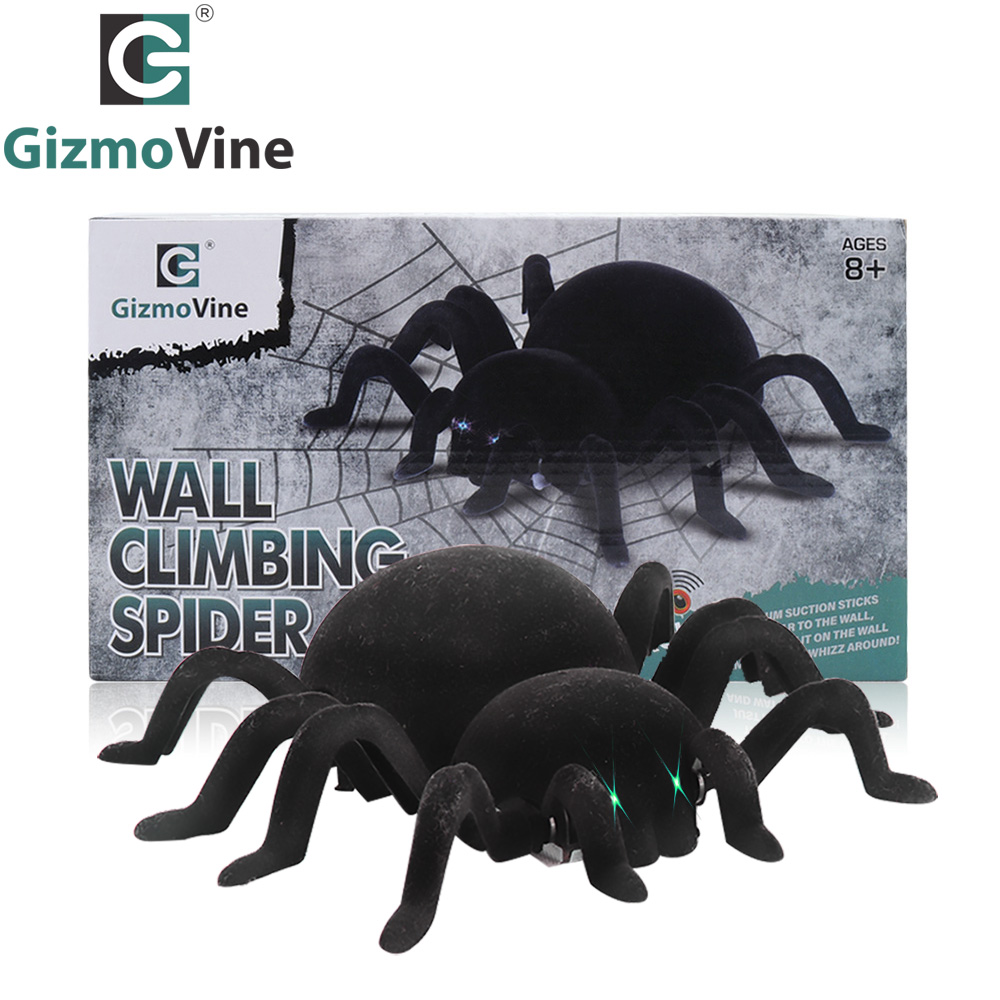 Radio Control RC Animals Simulation Furry Tarantula Electronic Spider Toy Children Kids Gift Halloween Festival kids toys remote control soft scary plush creepy spider infrared rc tarantula kid gift toy may16 35