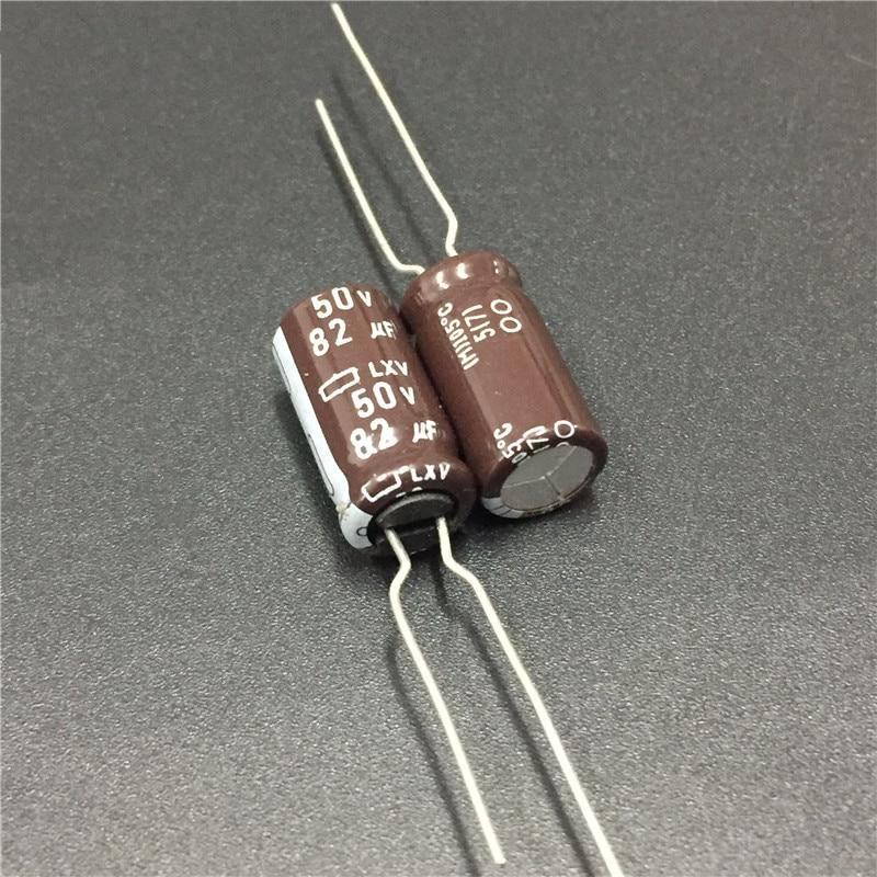 Leaded 82UF 50volt 50 Aluminum Electrolytic Capacitors
