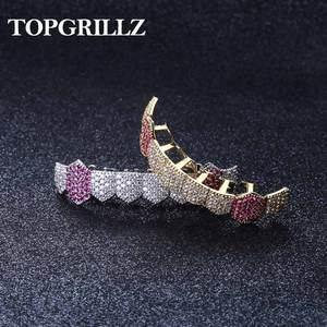 TOPGRILLZ Women Jewelry Iced-Out Gold Silver-Color Micro-Pave Hip-Hop for Full-Cz