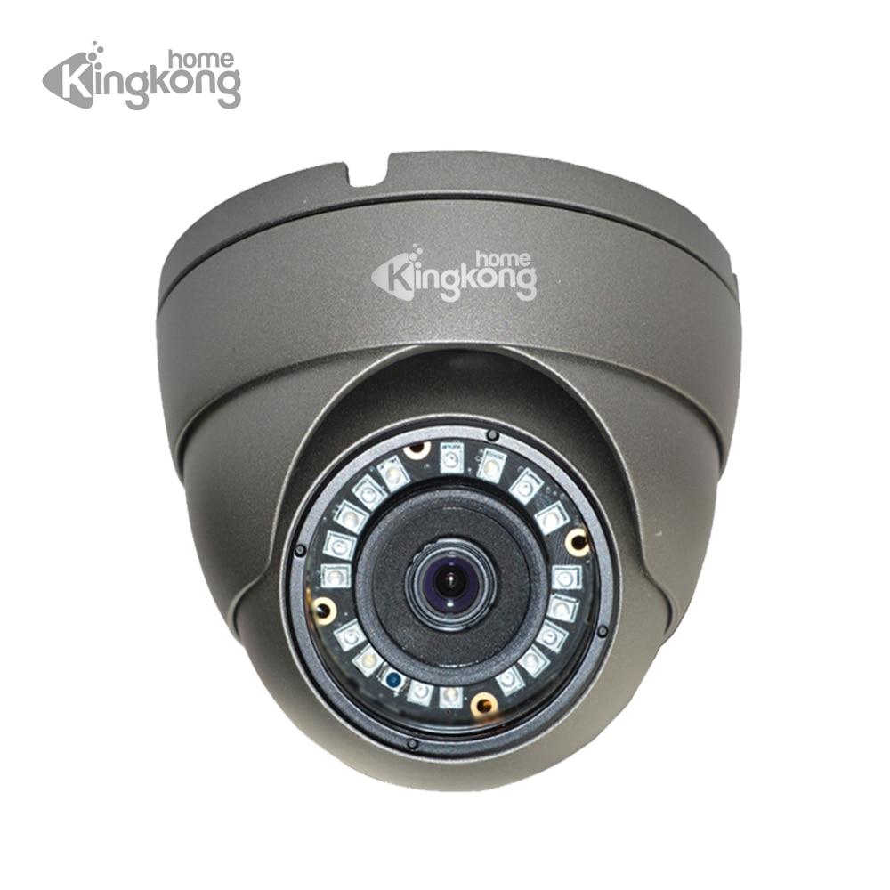 Kingkonghome 48V POE IP Camera 1080P 960P 720P surveillance CCTV Security Camera ONVIF Waterproof Outdoor Metal Dome IP Cam gadinan 720p 960p 1080p poe camera onvif p2p security ip camera 25fps hi3518ev200 hi3516cv300 h 265 metal dome camera ip cctv