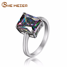 Wedding Brand Finger Ring Female Jewelery Engagement Rings For Women Jewellery Color Cubic Zirconia Jewelry Couple Love