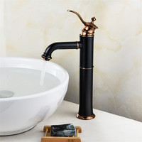 Bathroom Basin Faucets Black painted Sink Mixer Tap new Style Single Lever Single Hole Deck Mounted Crane faucets Torneira