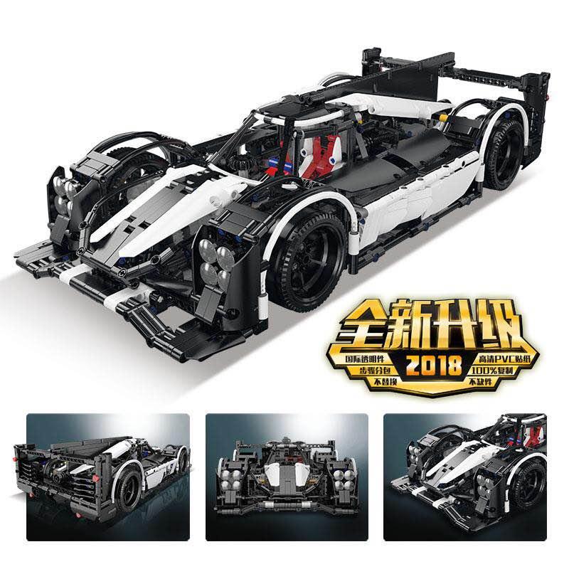 Lepin Technic 23018 Speed Champions the MOC-5530 Hybrid Super Racing Car Set Model Building Blocks Bricks Toys for Children Gift