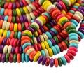 122 unids Heishi Turquesa de Howlite Multicolor Rondelle Spacer Suelta Perlas de $ number Mm