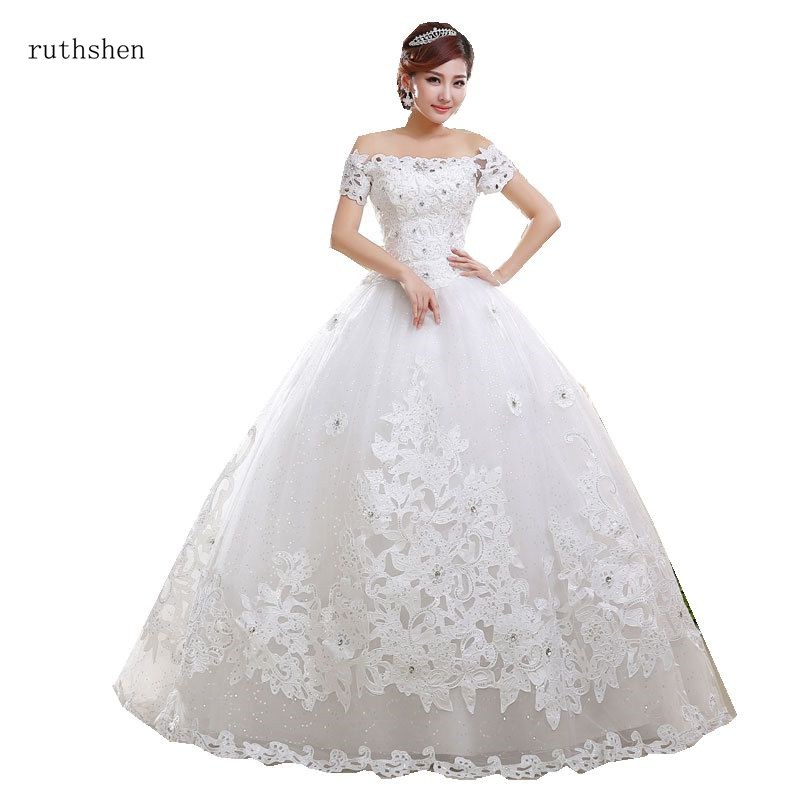 Vintage Princess Wedding Dress 2019 Ball Gown Off The