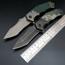 New Arrival 352 Folding Camping Knife D2 Steel Blade+G10 Handle  Outdoor hunting pocket Knives Portable Tactical Tool