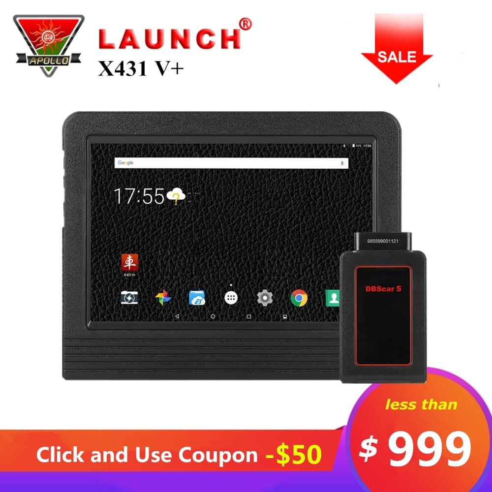 Lancement X431 V + V Plus 10.1 pouces Auto Outils De Diagnostic Système Complet OBD2 Bluetooth Wifi scanner de voiture 2 Année Livraison mise à jour X431 Pro3