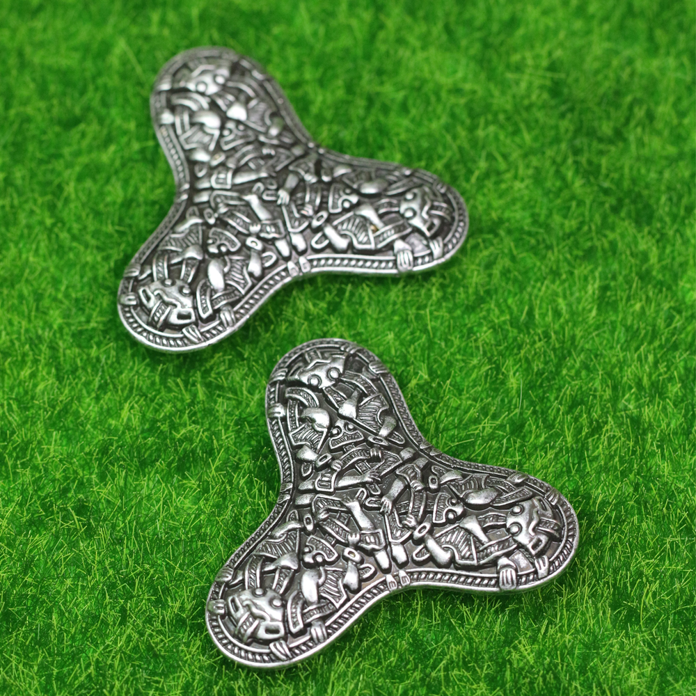LANGHONG 1pcs Legendry Nordic Vikings Amulet fibula Brooches Viking brosch jewelry Talisman langhong 10pcs viking brooch for women sweden scandinavian viking brooch jewelry talisman women brooch