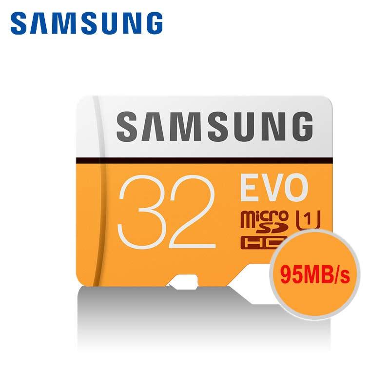 SAMSUNG Yellow Microsd 32GB Memory Card Microsdhc Tf Card Class 10 Trans Flash Mikro Memoria Tarjeta SDHC Ush-i Carte Sd 32 Gb