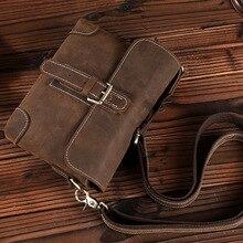Retro crazy horse leather casual bag Crossbody Bag man purse ferrino