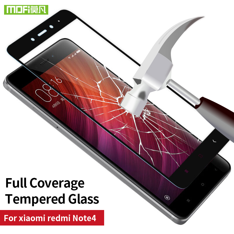 Xiaomi Redmi Note 4 glass 5.5 screen protector global version tempered 2.5D full cover film Mofi Xiaomi Redmi Note 4 pro glass