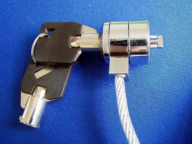 2 pcs /lot Notebook security key lock notebook laptop lock laptop security lock