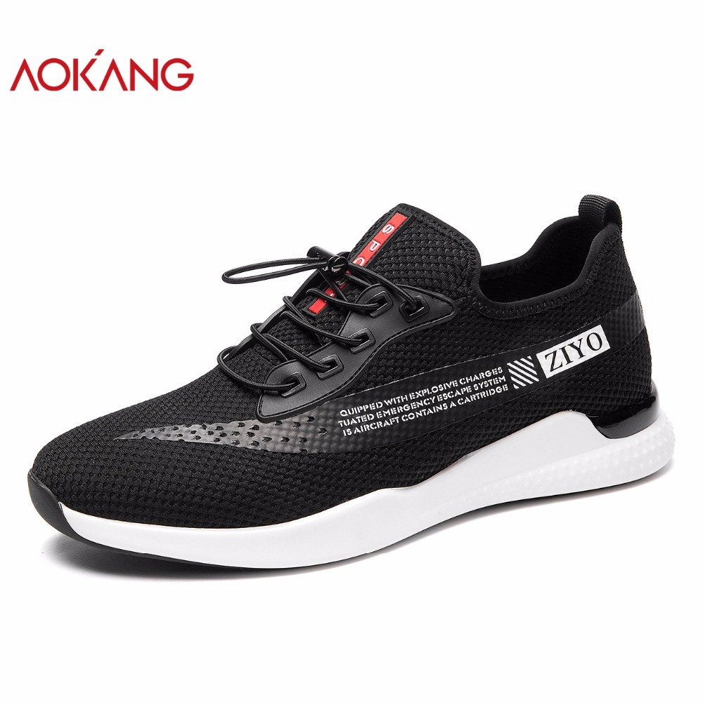 AOKANG 2018 Summer men shoes leisure comfortable fashion shoes men breathable casual men shoes hardwearing light shoe men micro micro 2017 men casual shoes comfortable spring fashion breathable white shoes swallow pattern microfiber shoe yj a081