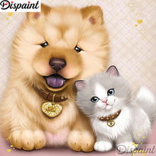 Dispaint Full Square/Round Drill 5D DIY Diamond Painting Dog cat scenery 3D Embroidery Cross Stitch Home Decor A12915