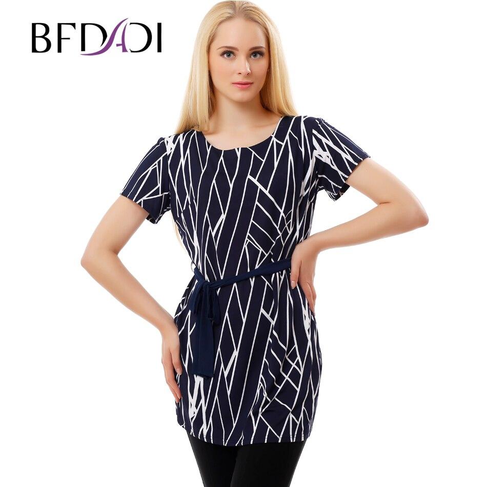 Bfdadi summer women long t shirt 2017 fashion geometric for Long t shirt trend