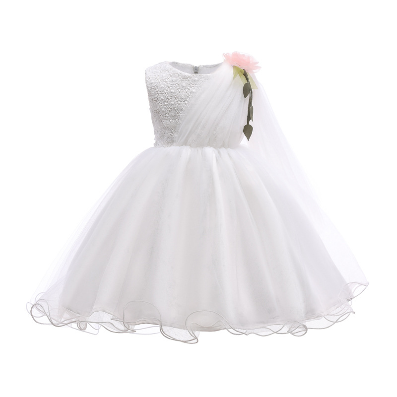 2-12T Holy Flower Girl Dress Children Princess Dress First Communion Party Lace Pageant Weddings Ball Dresses for Teenage Girls 1 12t pink lace long trailing wedding dress flower girl dresses appliques first communion dresses for girls pageant dresses
