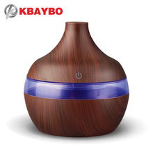 KBAYBO 300ml Ultrasonic Air Humidifier Aroma Essential Oil Diffuser for Home USB Fogger Mist Maker with LED Night Lamp home