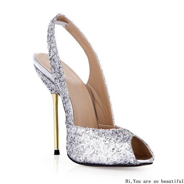 Aliexpress.com : Buy New Slingbacks Elegant Glitter Thin Heels