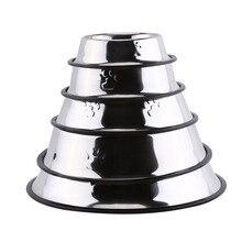 Pet Food Bowl Stainless Steel Pet Bowl Anti Slip Dog Cat Puppy Food Holder Water Feeder Feeding Dish
