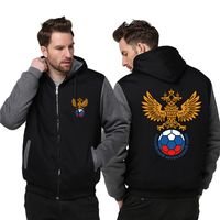 USA Size 2018 Russia National Football Team Fashion Football Club Coat Hoodie Winter Fleece Unisex Thicken