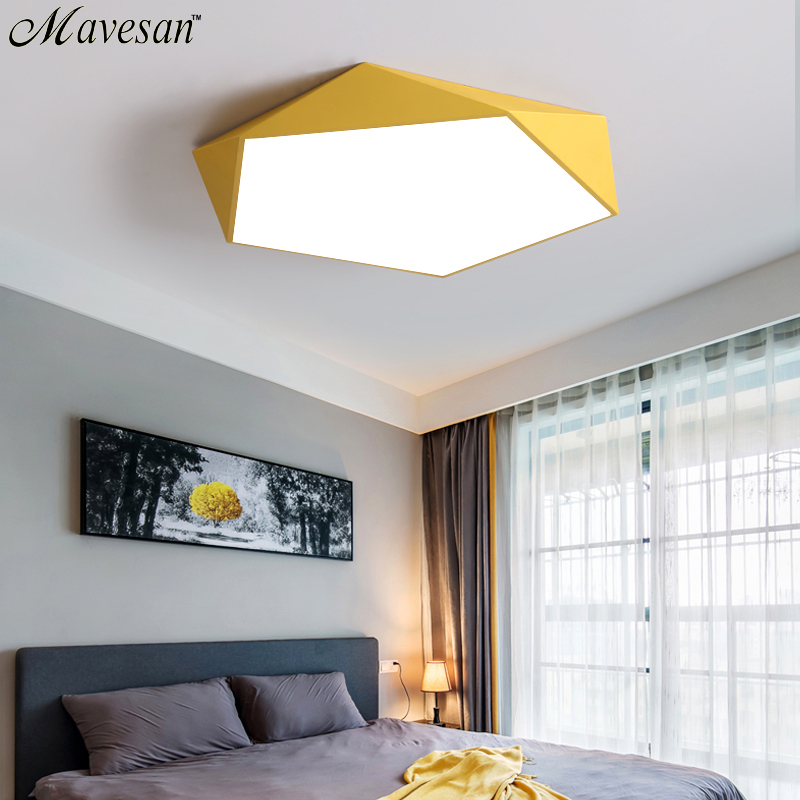 Image 2 - Macarons Ceiling Lights Colorful Lampshade Lamp For Living room Bedroom Kids room ceiling mount indoor Lights Ceiling Lights-in Ceiling Lights from Lights & Lighting