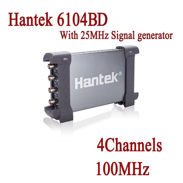 Hantek 6104BE Digital Oscilloscope Portable USB PC Based 100MHz 4 Channels1Gsa//s
