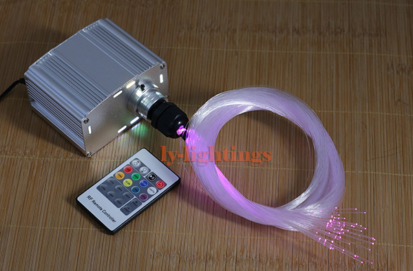 decoration optical fiber light kit led light fibre optic color change star ceiling 20W RGB RF remote twinkle effect цена
