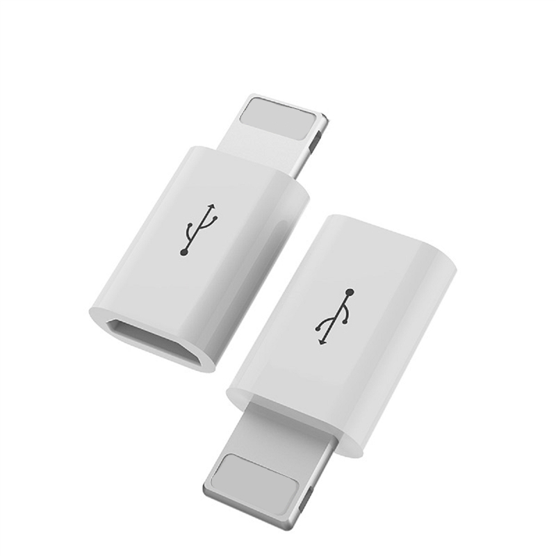 2PCS Connector Micro USB Female To 8 Pin Male Charging Cable Plug Adapter Converter For IPhone 5 5S SE 6 6S 7 8 Plus X Convertor