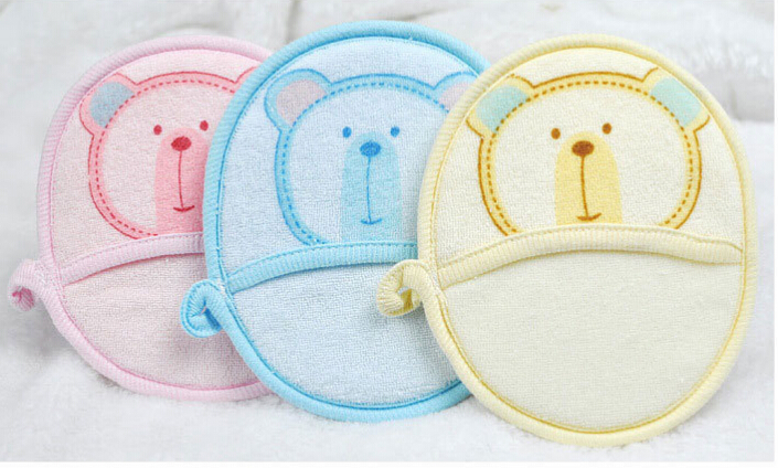100% towel fabric Baby bath rub Soft and comfortable baby bath foam