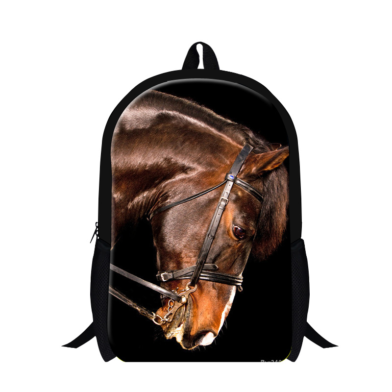 f345c13542 Dispalang 3D Animal Horse Print Backpack Children School Bags Students  Shoulder Book Bag Casual Men s Women Travel Bag Mochila-in Backpacks from  Luggage ...