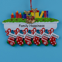 Personalized Mantel Stockings Family Ornaments Of 6Christmas 2015 Gifts
