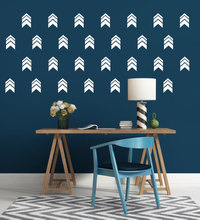 Pattern Arrow Wall Decals Chevron Arrows Nursery Vinyl Stickers -Modern Kids Bedroom Art Mural YO-71