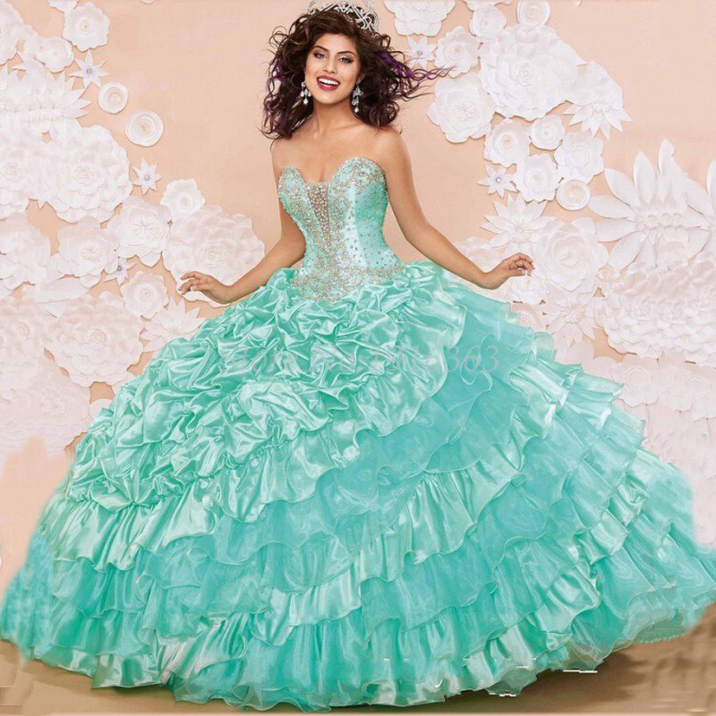 Aliexpress.com : Buy Mint Green Quinceanera Dresses With Jacket ...
