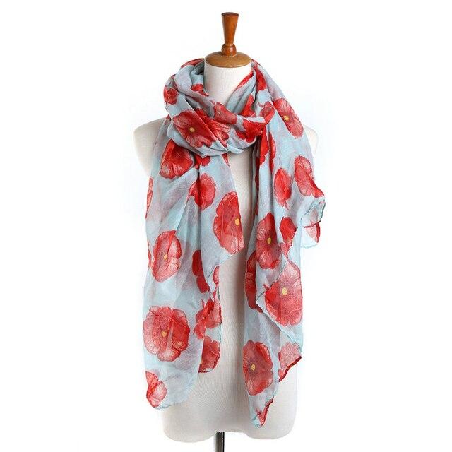 Fantastique Pavot Imprimé Foulard Noir Rouge Fleur Foulards Et Châle Floral  Hijab En Mousseline de Soie 209f94eb329