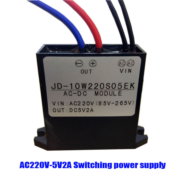 US $4 74 5% OFF|AC220C 5V2A high performance outdoor switching power supply  epoxy resin waterproof power supply 10W5V2A switching power supply-in