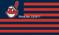 Mlb cờ cleveland indians quốc gia sọc lá cờ 3ft x 5ft polyester MLB banner cờ tùy chỉnh